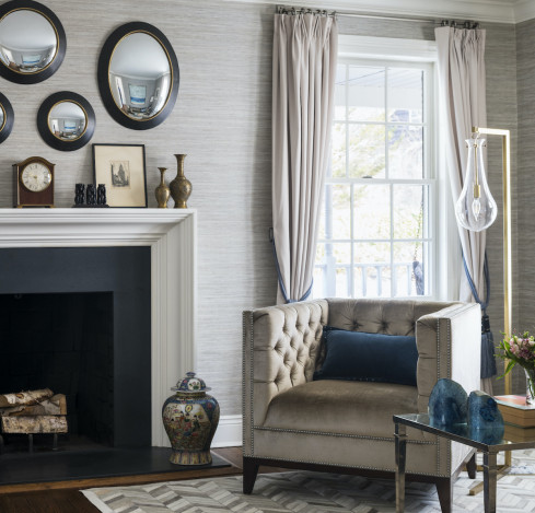fireplace-arm-chair-mirrors-wall-art-design