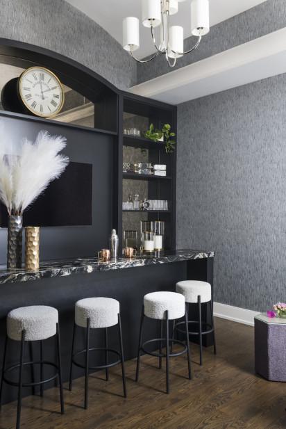 home-bar-marble-countertop-barstools-blank-shelves