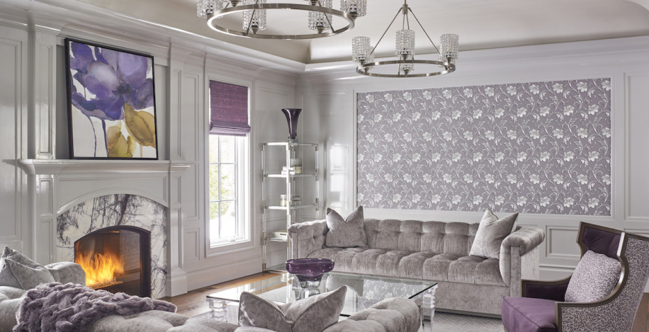 purple-jewel-tones-living-room-design-fireplace